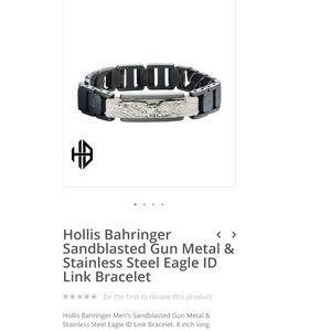 Gun Metal & Stainless Steel Eagle ID Link Bracelet